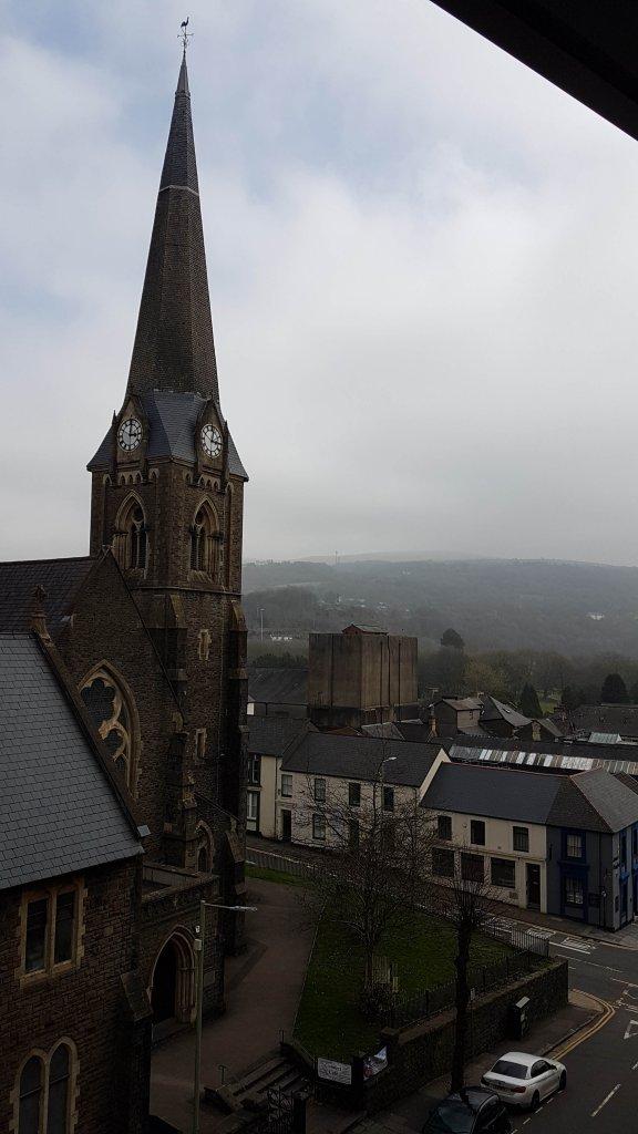 Pontypridd in the Welsh Valleys