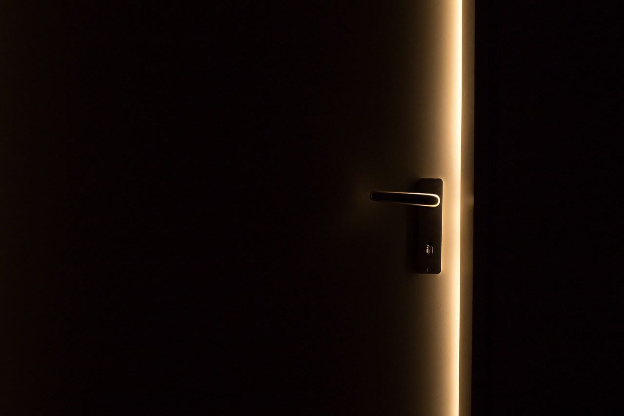An open door - all you need to do is go through it